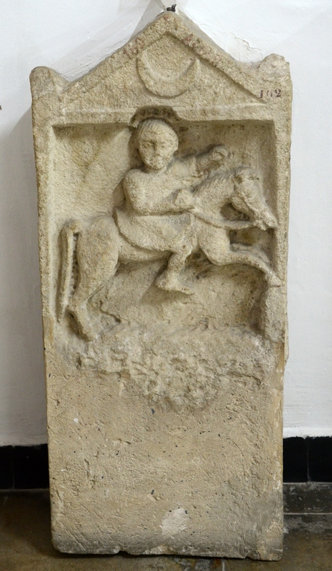 Icosium, Bab el-Oued cemetery, Tomb stela of a Numidian horseman