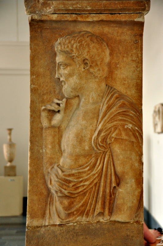 Carystus, Funerary relief of a man