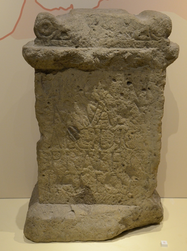 De Bijland, Inscription of Chalcidicus (cast)