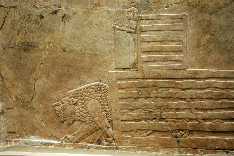 Nineveh, Palace of Aššurbanipal, Aššurbanipal's Lion Hunt (7)