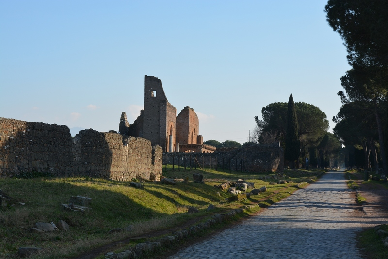Rome, Via Appia (054L), Road near the Villa of the Quintilii