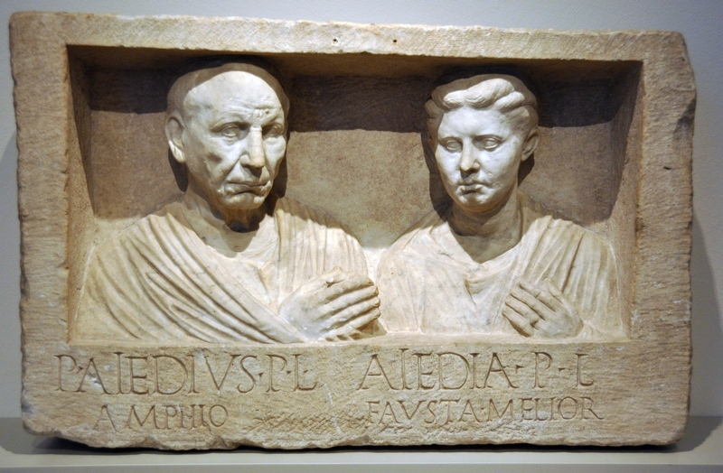 Rome, Via Appia, Relief of P. Aiedius Amphio and Aiedia