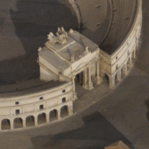 Rome, Circus Maximus, Model, Arch of Titus