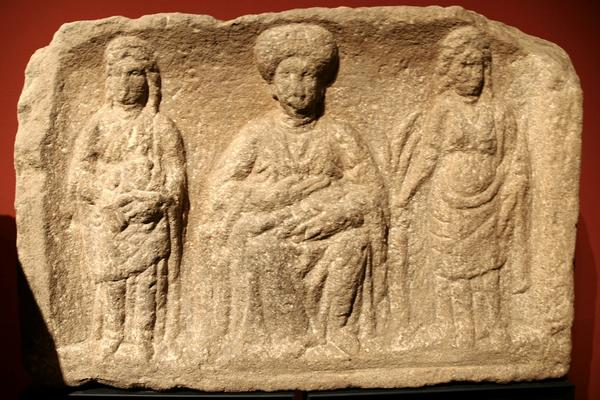 Three female deities
