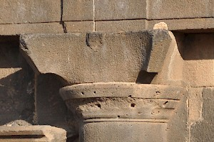 A Nabataean capital from the Nabataean Gate in Bosra (Syria)