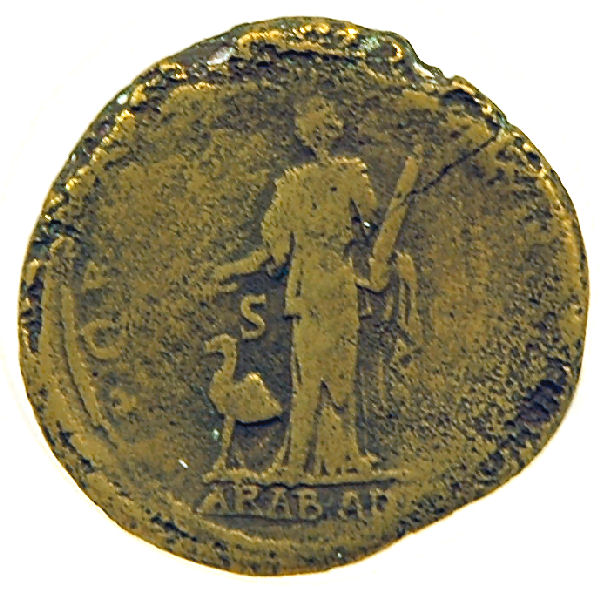 Roman coin, commemorating the annexation of Arabia Nabataea