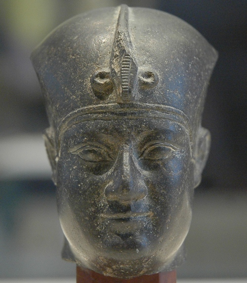 Nectanebo I wearing the war crown