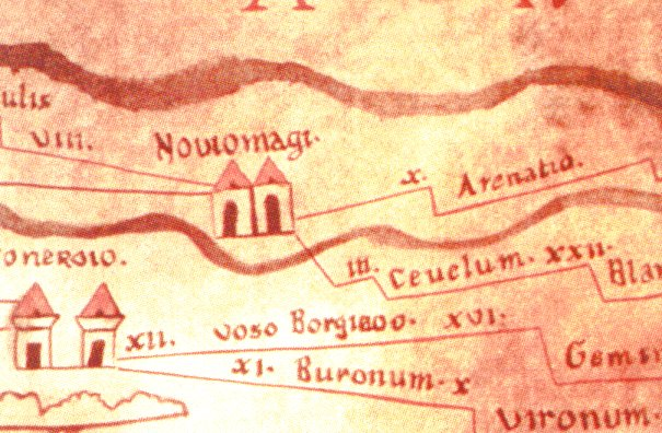 """Arenatio"" on the Peutinger Map"