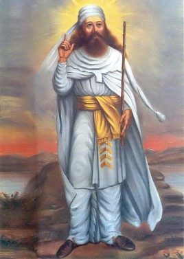 Modern portrait of Zarathustra, inspired by a dress on a relief of Taq-e Bostan.