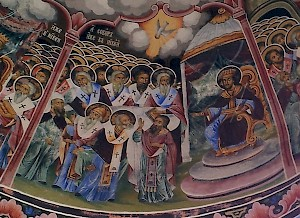 Nineteenth-century painting of the Council of Nicaea (325)
