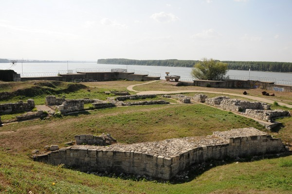 The Danube near Durostorum (the ruins are medieval)