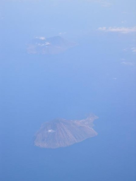 The Aeolian Islands from the air