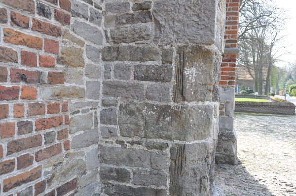 Ancient stones in the Medieval church of Aardenburg