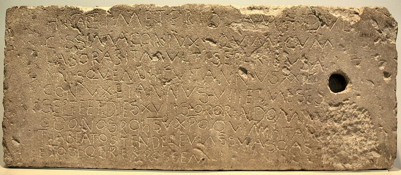 The Meteriola inscription (CIL 13.7813)