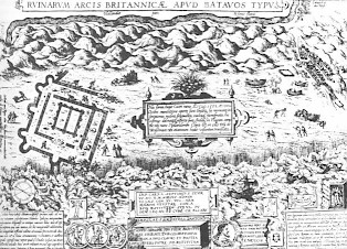 Ortelius' drawing of the Brittenburg