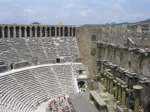 Aspendus, theater, seats