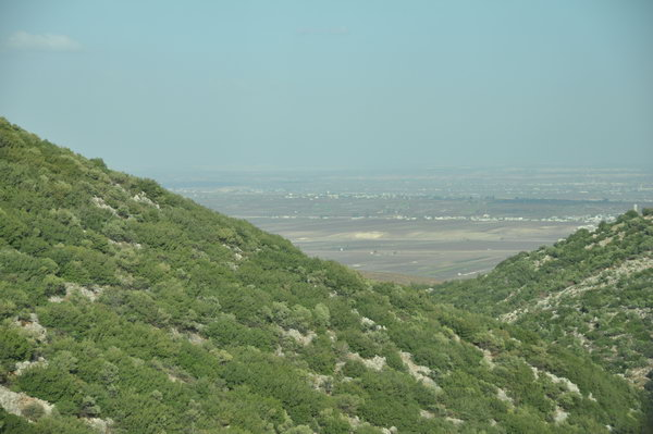 The plain of the Orontes, seen from the Bargylus Mountains; the battlefield is in the distance.