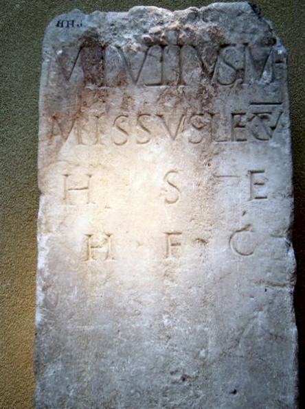 Tombstone of Marcus Julius, soldier of V Alaudae (CIL 13.8711)