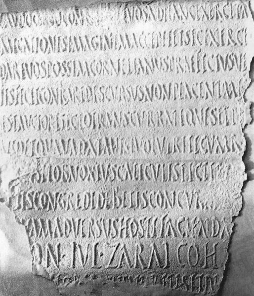 Fragment of the inscription