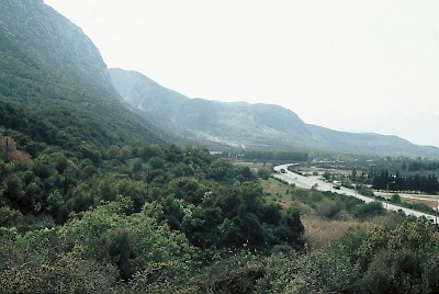 Thermopylae, view from electricity mast
