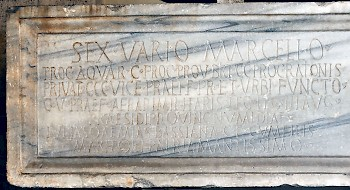 Latin inscription of the tomb of Varius Marcellus