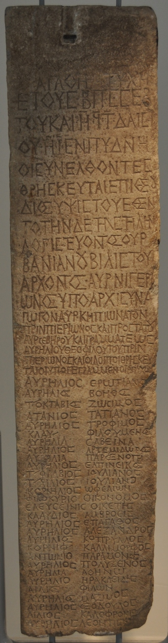 Pydna, List of worshippers of Zeus Hypsistos