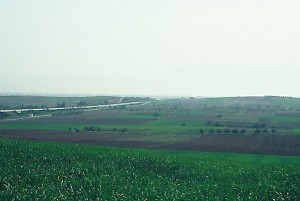 The plain of Pydna, seen from the north