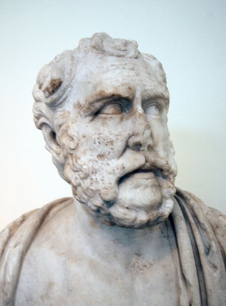 Polemo of Laodicea. Bust from the Temple of Zeus in Athens