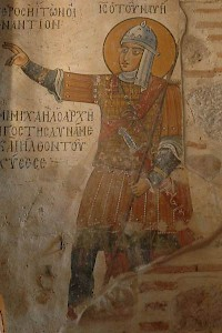 Joshua, dressed as a Byzantine Soldier