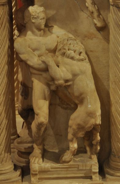 Perge, Heracles sarcophagi 01: Heracles and the Nemean Lion