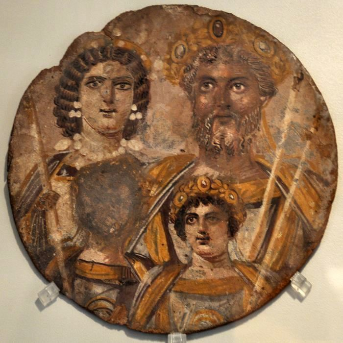 Julia Domna, Septimius Severus, Geta (erased), and Caracalla