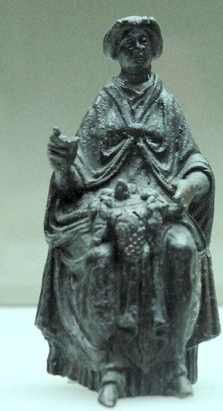 Bronze statuette of Nehalennia from Cologne